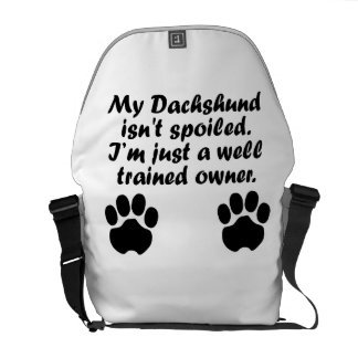Well Trained Dachshund Owner Courier Bag