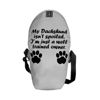 Well Trained Dachshund Owner Messenger Bag