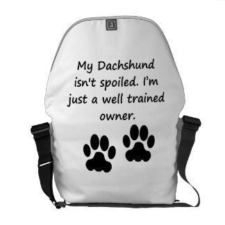 Well Trained Dachshund Owner Messenger Bags