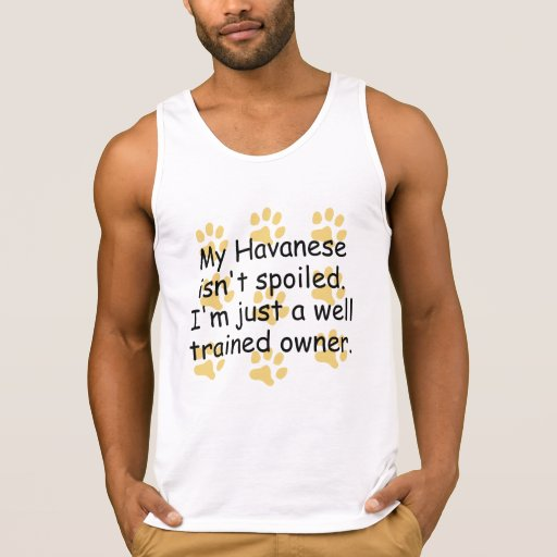 Well Trained Havanese Owner Tanktop Tank Tops, Tanktops Shirts