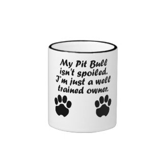 Well Trained Pit Bull Owner Ringer Coffee Mug