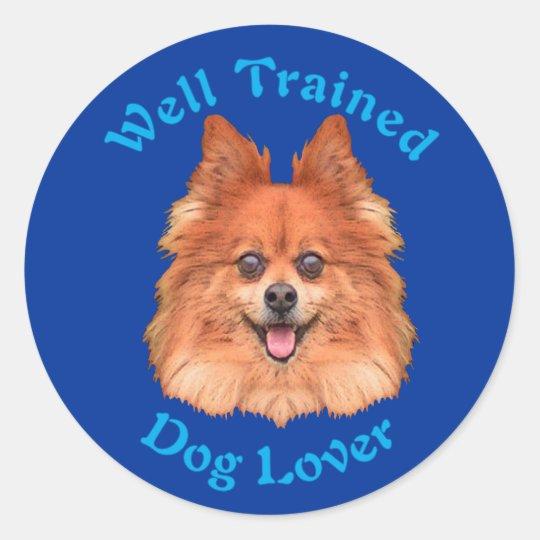 Well Trained (Pomerainian) Classic Round Sticker