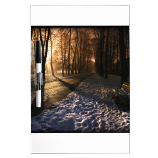 Well Traveled Snow Covered Path Dry-Erase Board