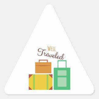 Well Traveled Triangle Sticker