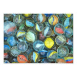 """Well-used marbles 5"""" x 7"""" invitation card"""