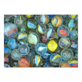 Well-used marbles 5x7 paper invitation card