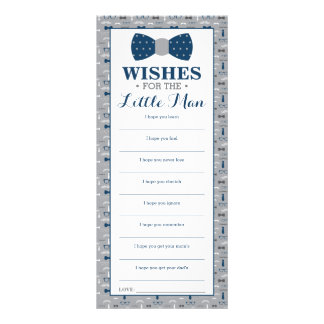 Well Wishes Card, Baby Shower, Little Man Rack Card