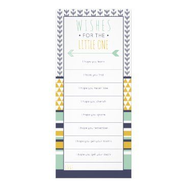 Aztec Themed Well Wishes Card, Baby Shower, Tribal Rack Card