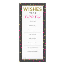 Well Wishes Card, Safari Baby Shower, 25 Pack Rack Card