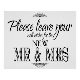 Well Wishes wedding sign Poster