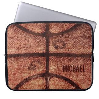 Well worn basketball ball texture laptop case