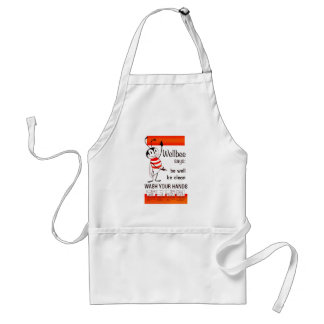 Wellbee CDC WASH YOUR HANDS Advertisement Poster Adult Apron