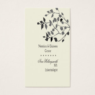 WellBeing  Medical Health Nature Elegant Business Card