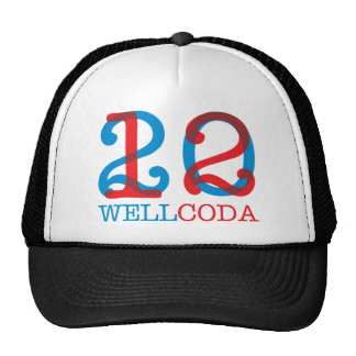 Wellcoda 2012 Apparel Numbers Crazy Year Trucker Hat
