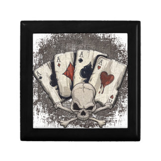 Wellcoda Ace Playing Cards Skull Casino Keepsake Box
