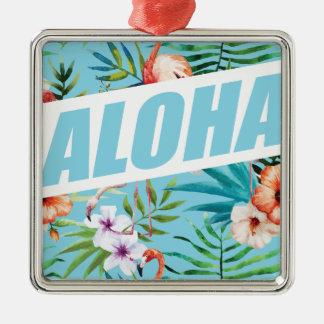 Wellcoda Aloha Hawaii Beach Wild Flamingo Metal Ornament