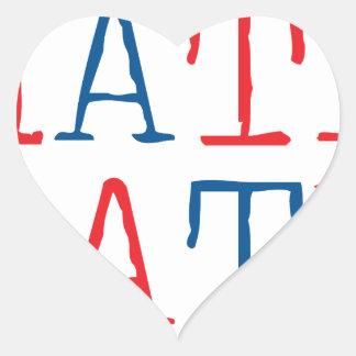 Wellcoda Always Hate Your Enemy Crazy Fun Heart Sticker
