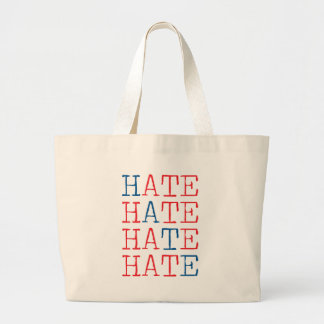 Wellcoda Always Hate Your Enemy Crazy Fun Large Tote Bag
