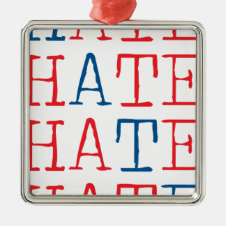 Wellcoda Always Hate Your Enemy Crazy Fun Metal Ornament