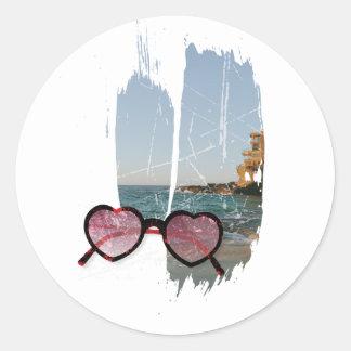 Wellcoda Amazing Summer Love Holiday Fun Classic Round Sticker