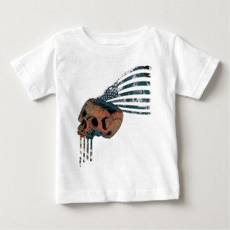 Wellcoda American Indian Skull Flag Injun T Shirt