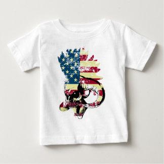Wellcoda American USA Skull Horror Flag Baby T-Shirt