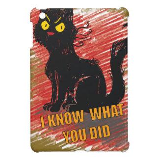 Wellcoda Angry Black Cat Meow Grumpy Pet iPad Mini Cases