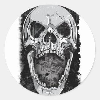 Wellcoda Angry Skull Reaper Skeleton Bone Classic Round Sticker