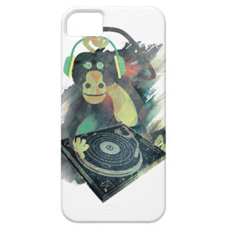 Wellcoda Animal Monkey Music DJ Disco Pop iPhone SE/5/5s Case