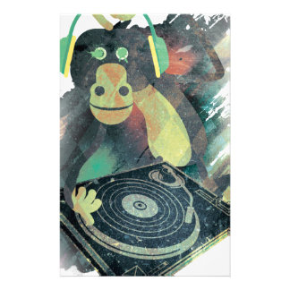 Wellcoda Animal Monkey Music DJ Disco Pop Stationery