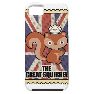 Wellcoda Animal Squirrel GB Great Britain iPhone SE/5/5s Case