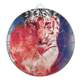 Wellcoda Animal Tiger Universe Galaxy Cat Dartboards