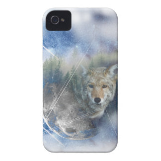 Wellcoda Animal Wolf Galaxy Fantasy Zoo iPhone 4 Cases