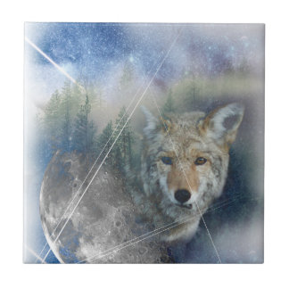 Wellcoda Animal Wolf Galaxy Fantasy Zoo Tile