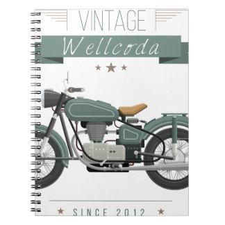 Wellcoda Apparel Chopper Life Motor Bike Notebook
