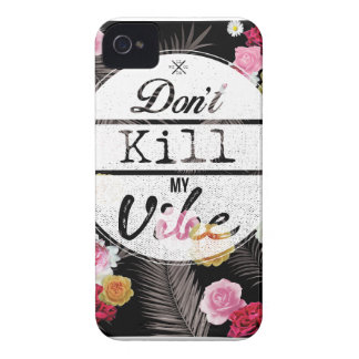 Wellcoda Apparel Dont Kill My Vibe Flower Case-Mate iPhone 4 Case