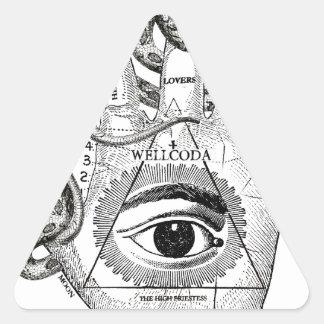 Wellcoda Apparel Hand Compass Judgement Triangle Sticker