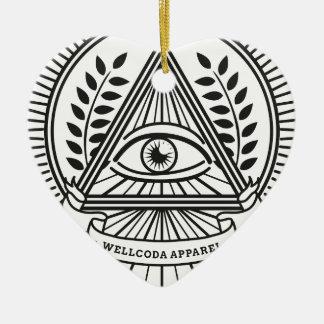 Wellcoda Apparel Illuminati Conspiracy Ceramic Ornament