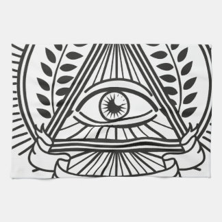 Wellcoda Apparel Illuminati Conspiracy Kitchen Towel