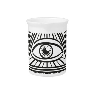 Wellcoda Apparel Illuminati Conspiracy Pitcher