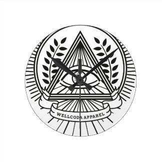 Wellcoda Apparel Illuminati Conspiracy Round Clock