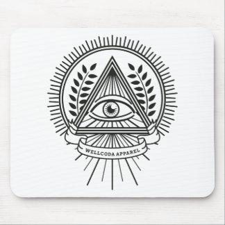 Wellcoda Apparel Illuminati Secret Life Mouse Pad