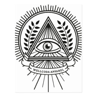 Wellcoda Apparel Illuminati Secret Life Postcard