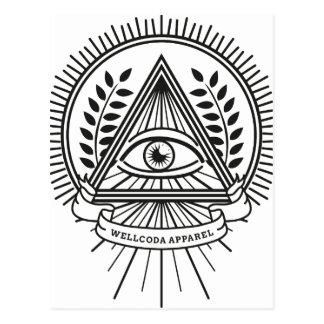 Wellcoda Apparel Illuminati Secret Life Postcard