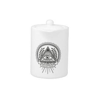 Wellcoda Apparel Illuminati Secret Life Teapot