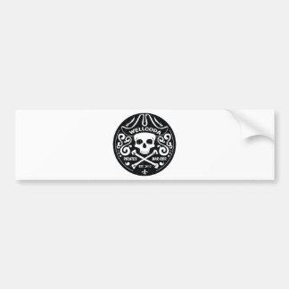 Wellcoda Apparel Pirates Bar Skull Bones Car Bumper Sticker