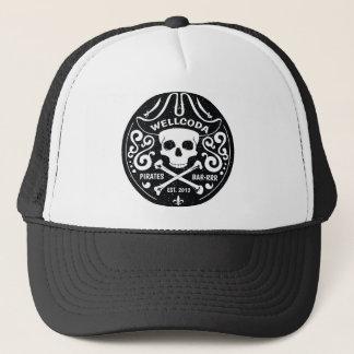 Wellcoda Apparel Pirates Bar Skull Bones Trucker Hat