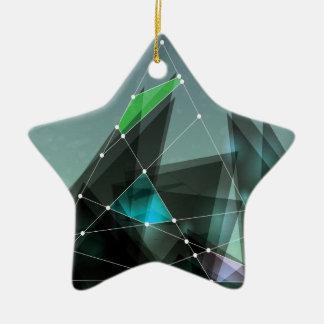 Wellcoda Apparel Shape Future Colour Wars Ceramic Ornament