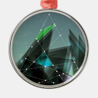 Wellcoda Apparel Shape Future Colour Wars Metal Ornament