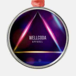 Wellcoda Apparel Solar System Star Colour Metal Ornament